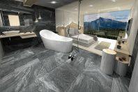 Vizualizácia spálne s kúpeľňou